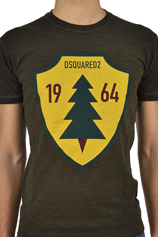 New Color: Green DSQUARED2 T-Shirt Fir Men Size: S