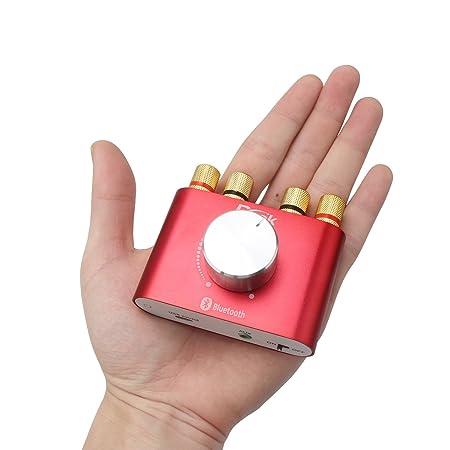 DROK® Mini audio estéreo Bluetooth inalámbrico amplificador amplificador de señal digital eléctrico DIY 30W * 2 de dos canales cuerpo de aluminio Junta ...