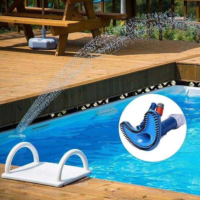 Ying-feirt Cepillo de natación Aspiradora de Piscina y SPA Jet Cepillo de vacío Herramienta de Limpieza de Piscinas Submarino: Amazon.es: Jardín