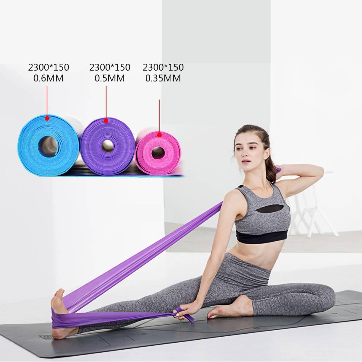 Yoga 2,3 m Bandes de r/ésistance en Latex pour r/é/éducation Danse ; Parfait pour Homme et Femme Musculation int/érieur et ext/érieur IVIM /étirements