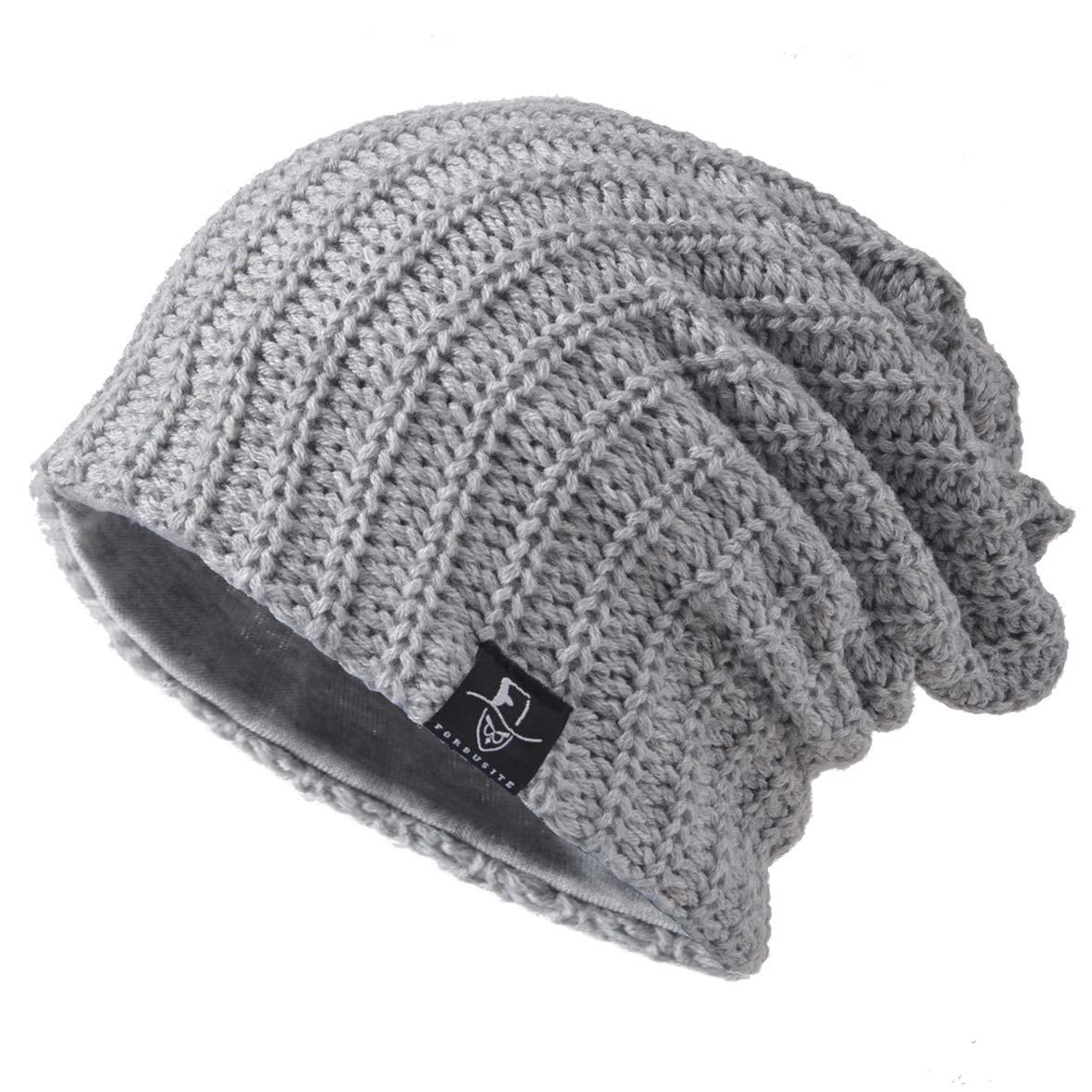 Oversized Baggy Skull Cap Winter Warm Ski Hat B305 Ruphedy Mens Slouch Knit Beanie