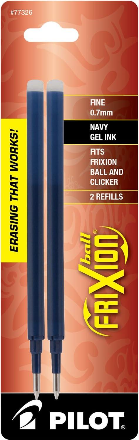 Fine Point -1 77335 3-Pack Black//Blue//Red Inks PILOT FriXion Gel Ink Refills for Erasable Pens