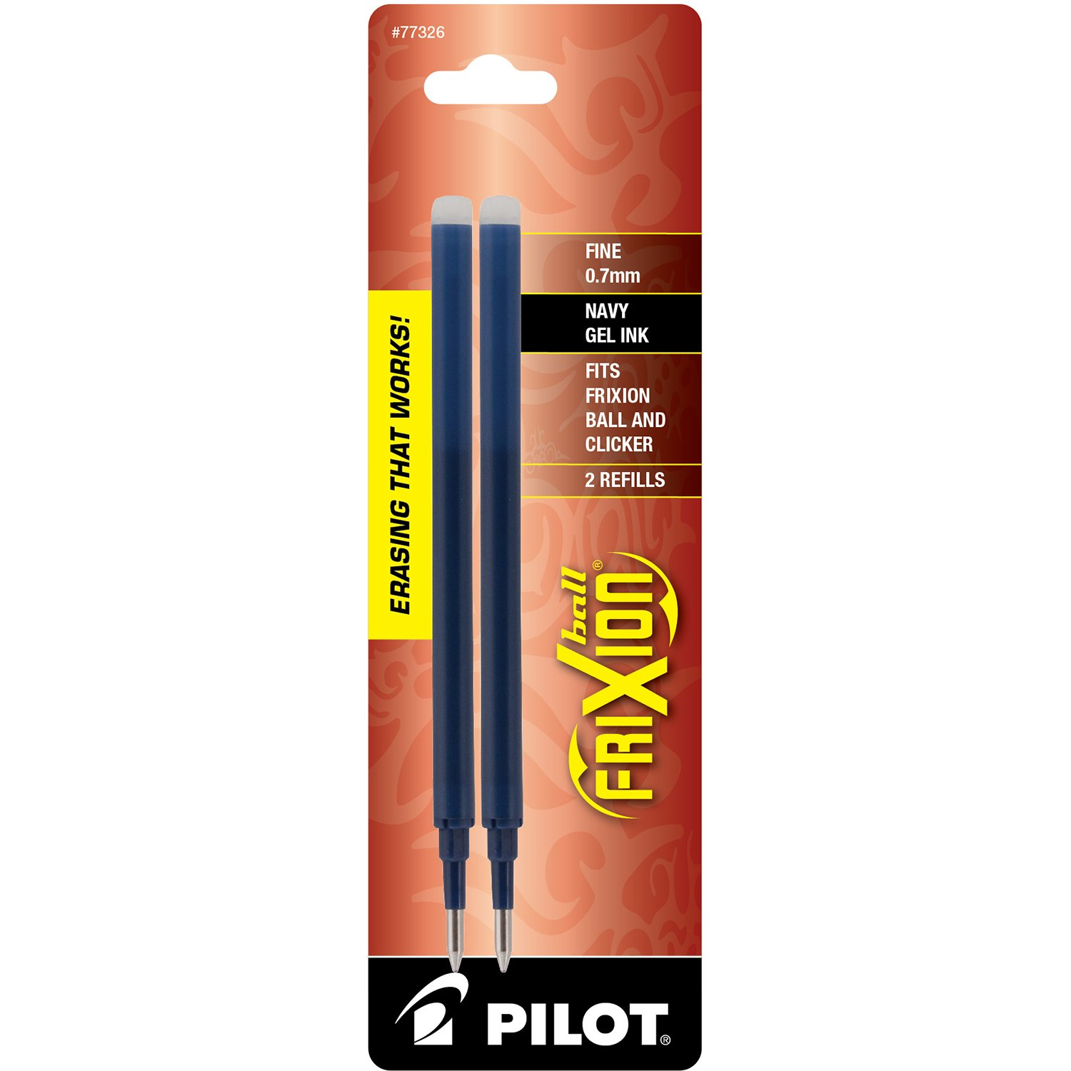 Pilot FriXion Gel Ink Pen Refill, 3-Pack for Erasable Pens, Fine Point, Red Ink -77332