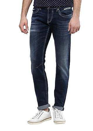 Rookies Slim Fit Jeans(RJ1155B40_Blue_40)