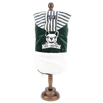 SMALLLEE_LUCKY_STORE Chaqueta Abrigo de Bulldog francés con Capucha Forro Polar Ropa de Invierno para Perro Pequeño y Perrito Verde L: Amazon.es: Productos ...
