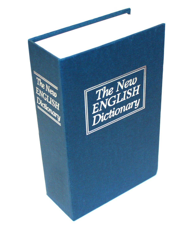 thumbsUp - Livre Coffre-fort Factice Dictionnaire Cachette Secrets Sécurité Tirelire, bleu - 0000384 product image