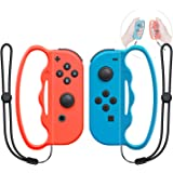 Boxing Grip for Nintendo Switch Joy-Con Fitness Boxing Game,Fit Boxing Clasp Accessories Handle for Adults and Children, 2 Packs (Blue and Red)
