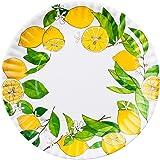 Lemons Faux Paper 9-inch Melamine Plates, Set of 4
