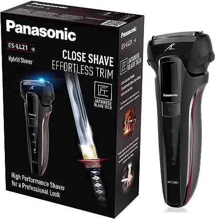 Panasonic ES-LL21-K503 - Afeitadora Premium WET&DRY 3 en 1, Recortadora y Perfilador de Barba (3 Cuchillas Acero Inoxidable, Motor Ultrarrápido, Carga Rápida, Motor Lineal 13.000 oscilaciones)
