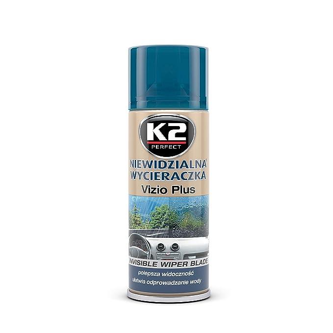 K2 Vizio Nanotech - Espray repelente de lluvia para limpiaparabrisas, invisible, 200 ml: Amazon.es: Coche y moto