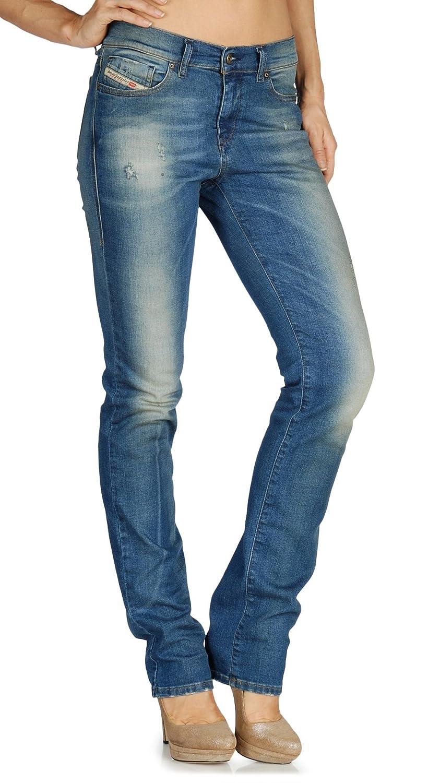 Diesel STRAITZEE Regular Waist Slim Straight Fit Jeans 0806I Medium 25x32