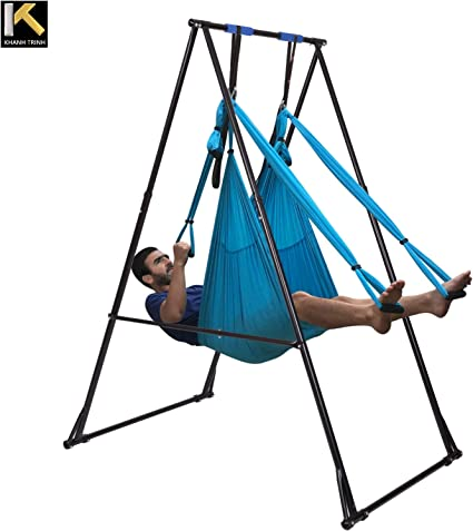 Amazon.com : KT Air Yoga Equipment Set Includes: Blue Aerial ...