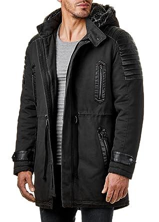 Mantel schwarz kapuze herren