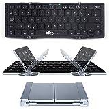 EC Technology faltbare Bluetooth Tastatur mit QWERTZ Tastaturlayout Wireless Tastatur für Windows PC/ Tablet/ Smartphone
