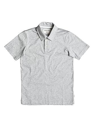 Quiksilver Varones Camisa polo - Gris - : Amazon.es: Ropa y accesorios