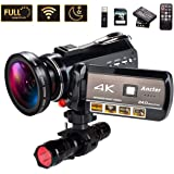 4K Wifi Full Spectrum Camcorders, Ultra HD Infrared Night Vision Paranormal Investigation Video Camera with 60fps 24MP…