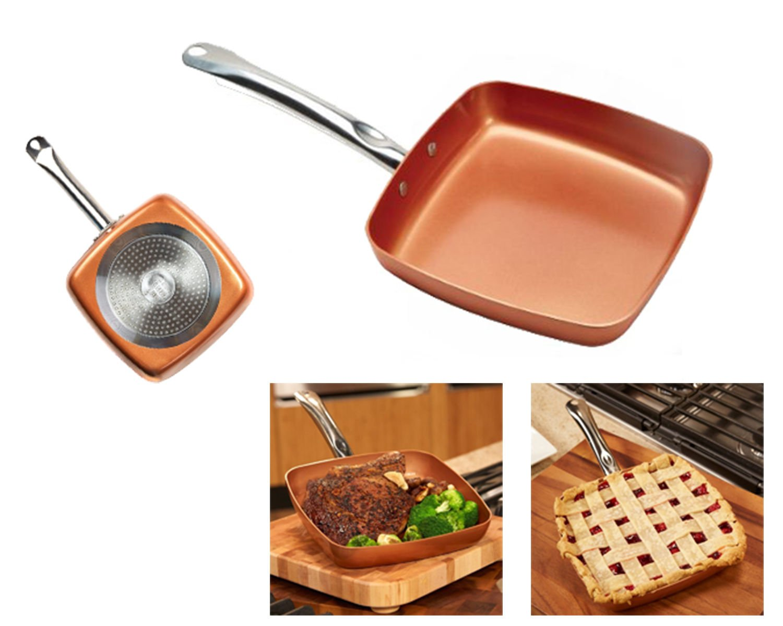 Copper Chef Square Fry Pan Set 9 5 Quot Amp 11 Inch Non Stick