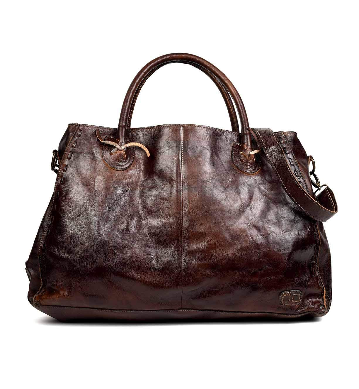 Bed|Stu Women's Rockaway Leather Bag (Teak Rustic)