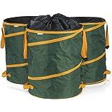 PRIMA GARDEN verschließbarer Gartenabfsallsack 240 l | 3er Set | Pop-up Funktion | Wasserabweisend | Reißfest | 4 Tragegriffe