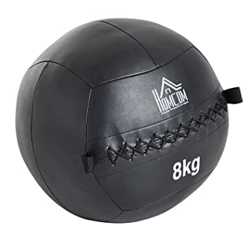HOMCOM Balón Medicinal de Crossfit 8Kg con Asas Tipo Pelota de ...