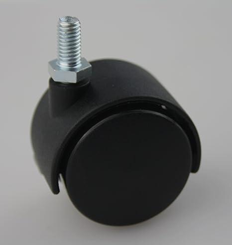 MS Beschl/äge/® M/öbelrolle Hartbodenrolle Lenkrolle /ø 35mm aus Kunststoff mit Gewindestift