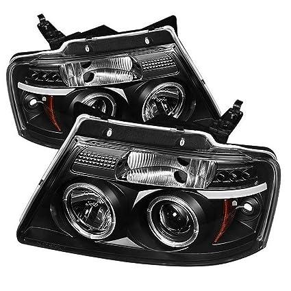amazon com spyder auto ford f150 version 2 black halogen ledspyder auto ford f150 version 2 black halogen led projector headlight