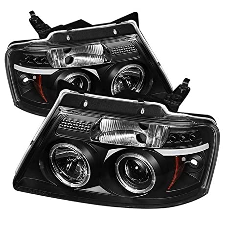 Spyder Auto Ford F150 Version 2 Black Halogen LED Projector Headlight