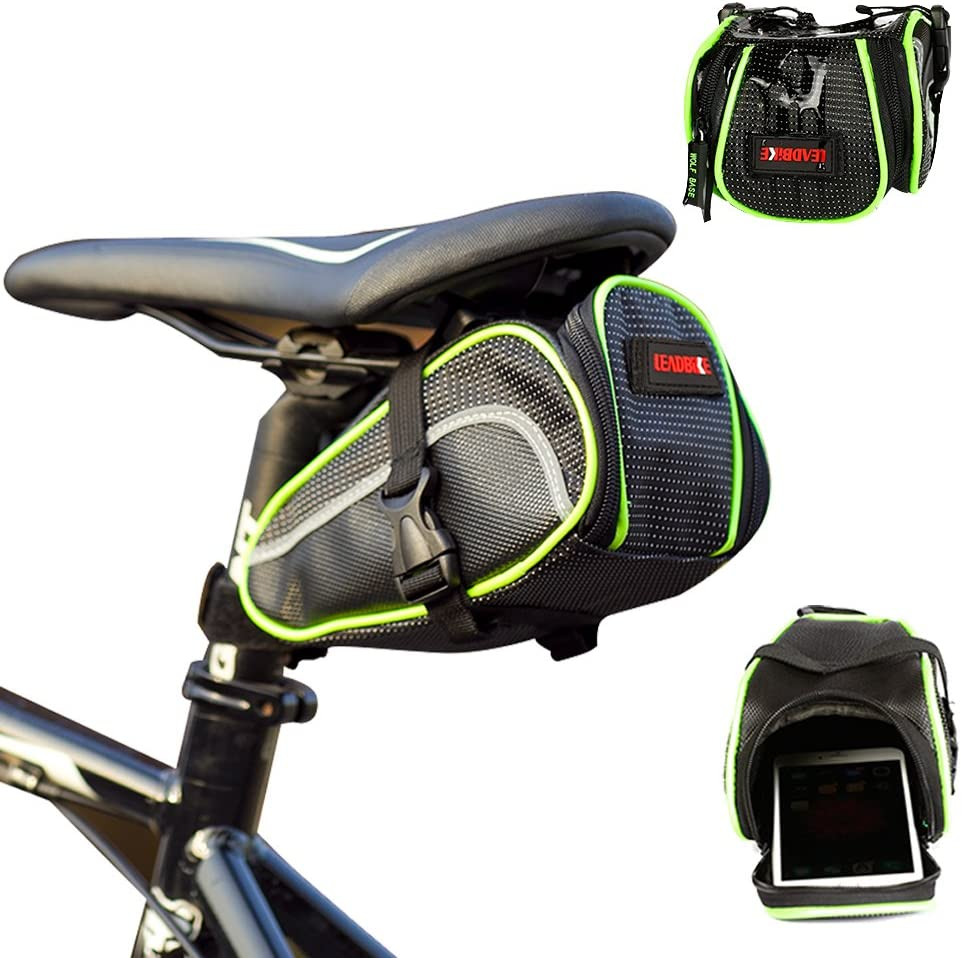 1pc Vehicle Pouch Saddle Bags Bicycle Accessories Cloth Zipper Bicycle Bags LI