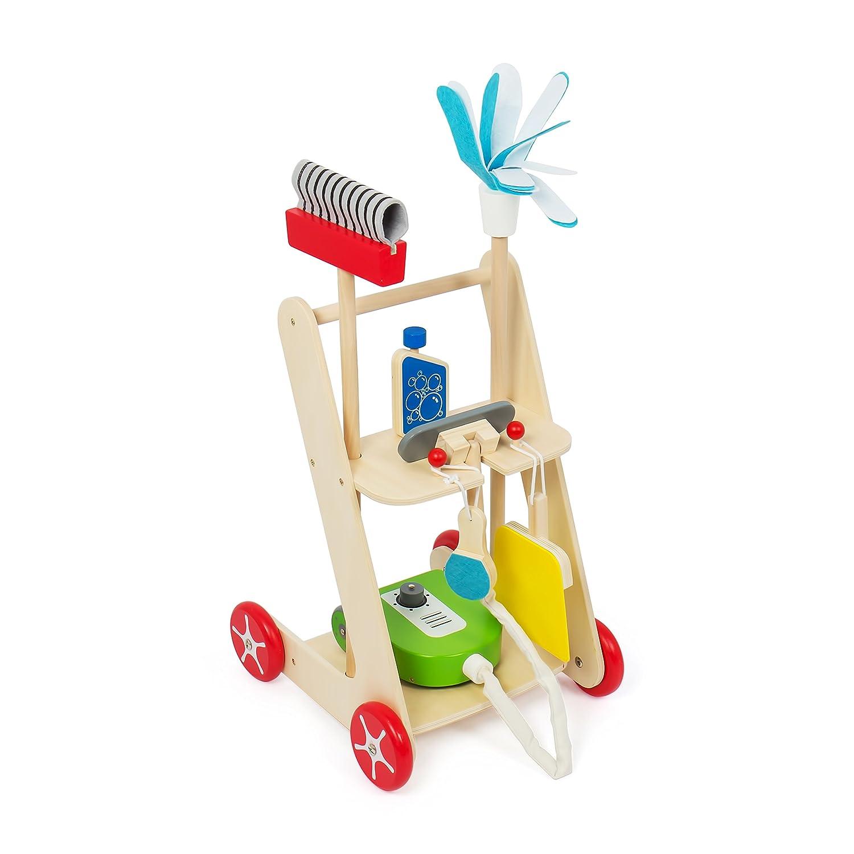 Kledio Kinder Reinigungswagen aus Holz