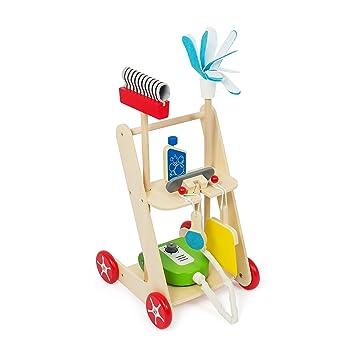 Kledio Carrito de Limpieza para niños de Madera, 6 Piezas KL-4742: Amazon.es: Juguetes y juegos