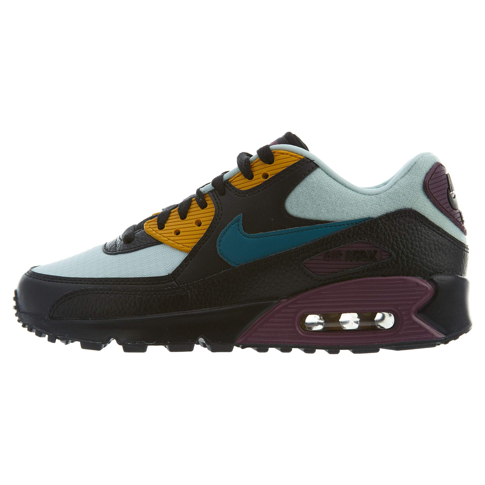detailed look 9a0e5 bd304 Galleon - NIKE Women s Air Max 90 Light Silver Geode Teal Black Running  Shoe 10 Women US