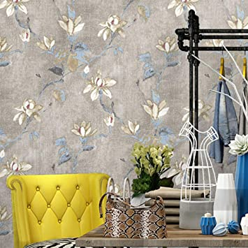 ACCEY Papel tapiz no tejido de jardín rústico americano pequeño floral estilo retro europeo dormitorio sala de estar tienda de ropa fondo de pantalla @ A803: Amazon.es: Bricolaje y herramientas