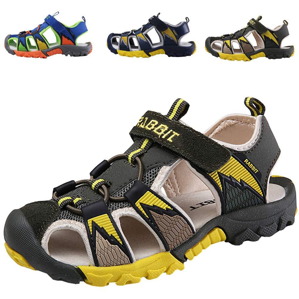 2b3308a8467b27 DADAWEN Boy s Girl s Summer Outdoor Beach Sports Closed-Toe Sandals  (Toddler Little Kid