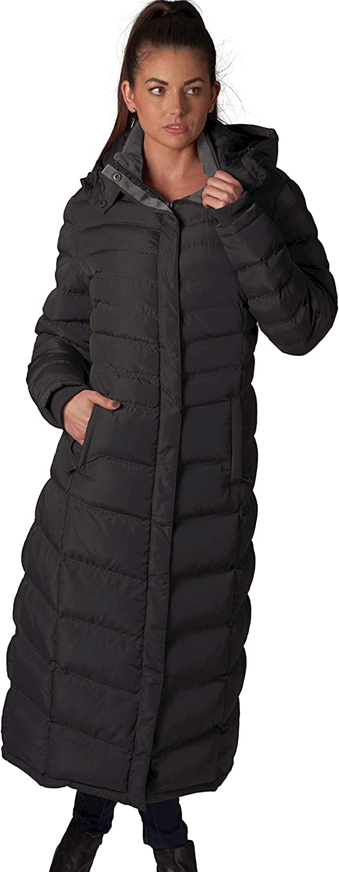 "ELORA 47"" Women's Winter Coat Heavyweight Full Length Fleece Lined Maxi Puffer Long Coat: Clothing"