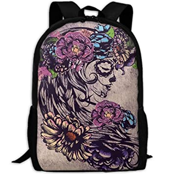 Image Unavailable. Image not available for. Color  Backpack Girl With A  Wreath Womens Laptop Backpacks Shoulder Bag Travel Daypack 37437a556f2eb