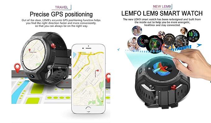LEMFO LEM9 Reloj Inteligente de Doble Sistema 4G Android 7.1 1.39 ...