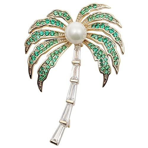2e341f15c Amazon.com: Hiddleston Jewelry Cubic Zircinia CZ Coconut Tree Palm Brooch  Pin Party Gift For Women Teen Girl: Sports & Outdoors