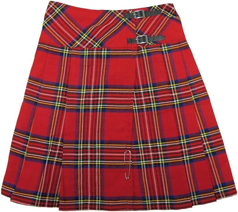 Long Royal Stewart Red Tartanplaid 23 Wrap Kilt Skirt