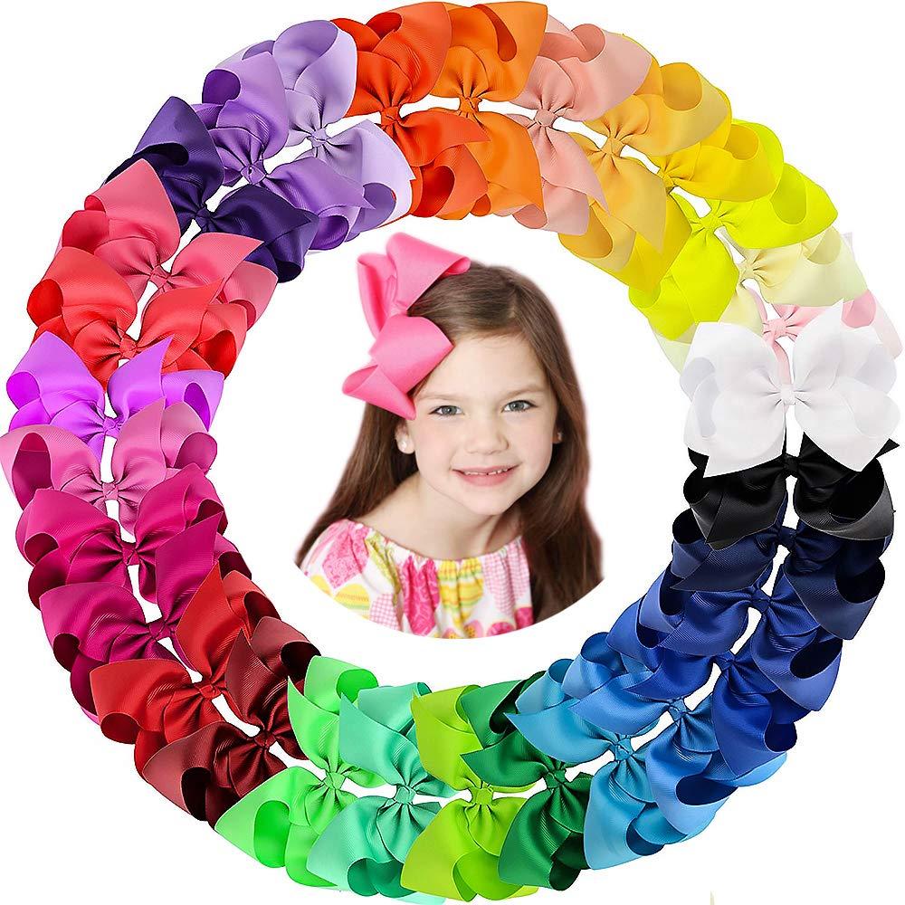 Choose 6 Hairbow ClipsHair ClipsGirls Hair BowsGrosgrain Hair BowToddler Hair AccessoriesHair ClipsBow Hair ClipToddler Hair Clips