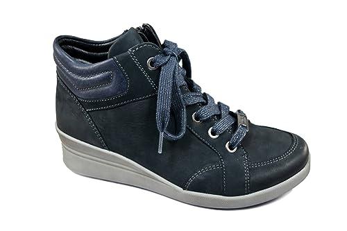 Lazio Alta Tomaia In Sneaker Ara Suola St Con Pelle Tessuto E twx4fa