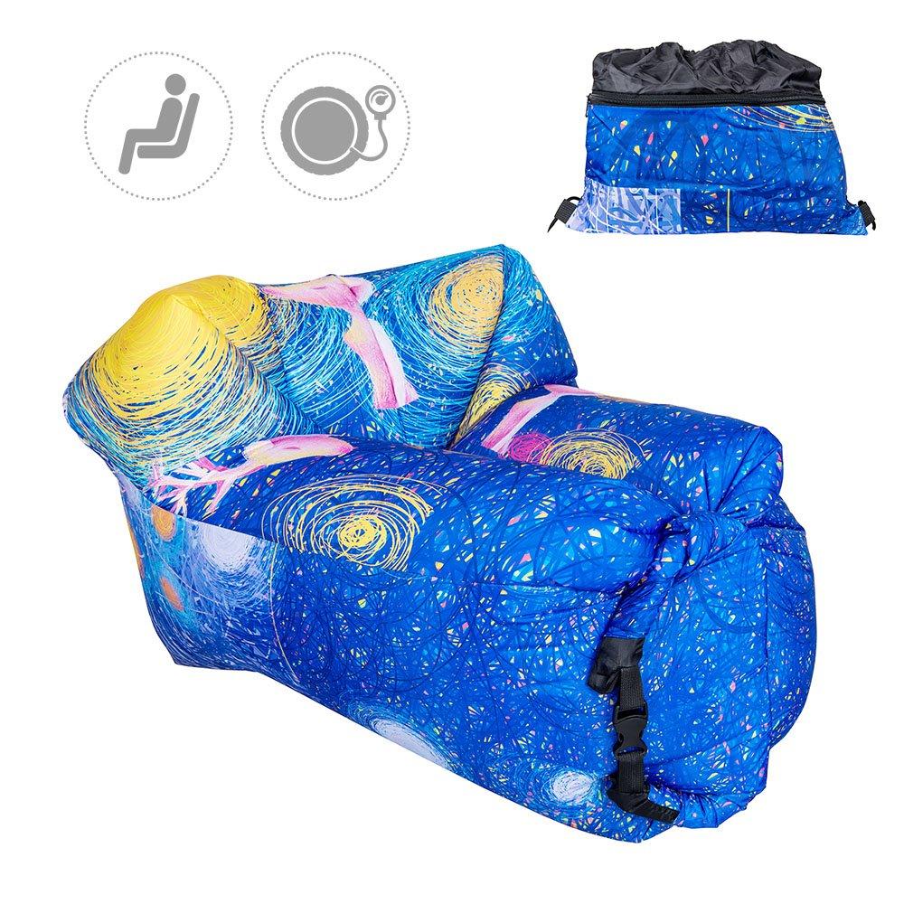 Inflable tumbona sofá TOP-MAX Air colchones Lazy Dormir sofá cama para interior al aire libre Camping senderismo playa piscina parque patio trasero ...