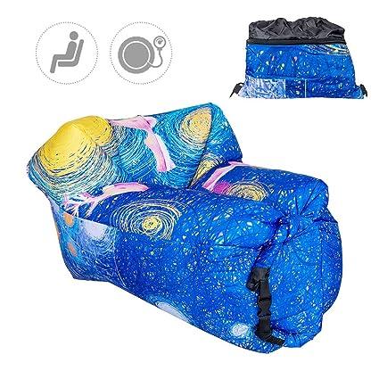 Inflable tumbona sofá TOP-MAX Air colchones Lazy Dormir sofá cama para interior al aire