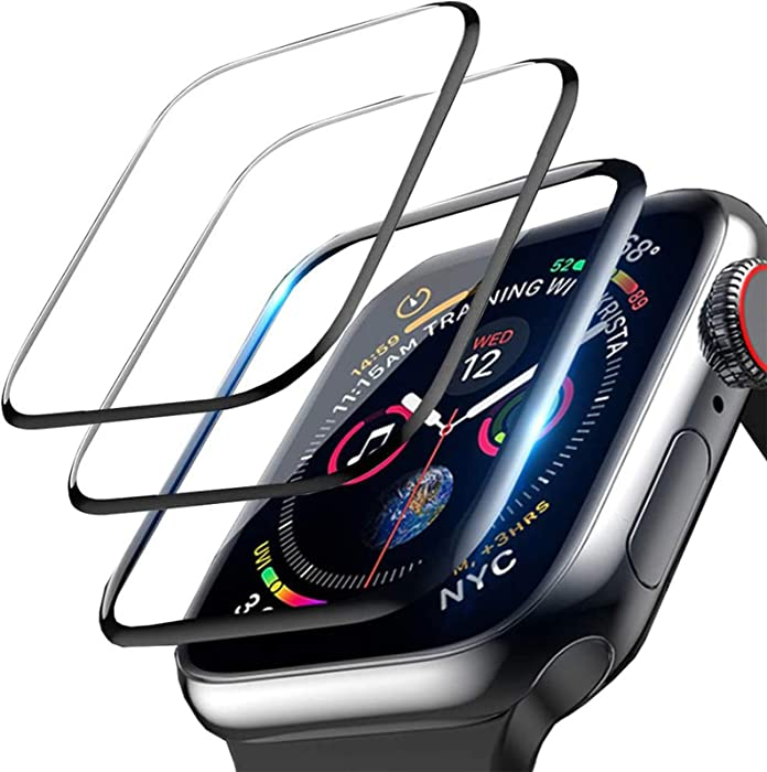 LOZA 3Pack Screen Protector for Apple Watch Series 6/SE/5/4 40mm, Bubble Free Anti-Scratch Resistant HD Clear Screen Protector Film Black