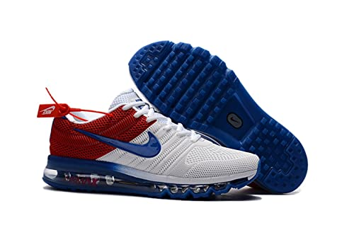8d5f6e1a516f Nike Air Max 2017 Mens White Blue Red 849560 315 Running Shoe  Amazon.ca   Shoes   Handbags