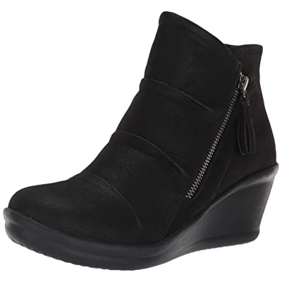 Skechers Women's Rumblers-Ruched Vamp Bootie with Tassel Ankle Boot | Shoes