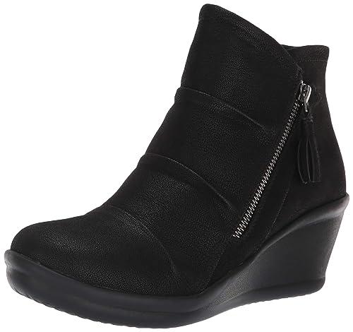 zapatos skechers mujer negro tacon negro