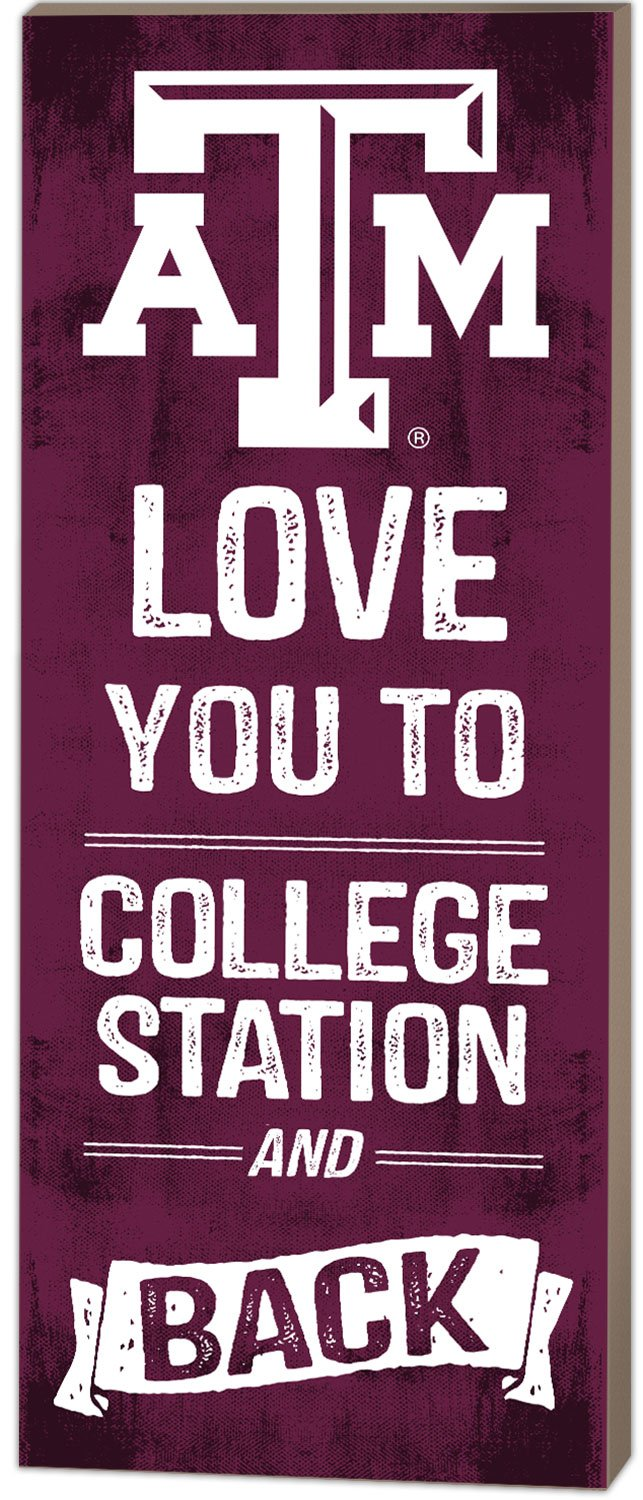 KH Sports Fan 7''x18'' Texas A&M Aggies Love You to Collage Logo Plaque by KH Sports Fan