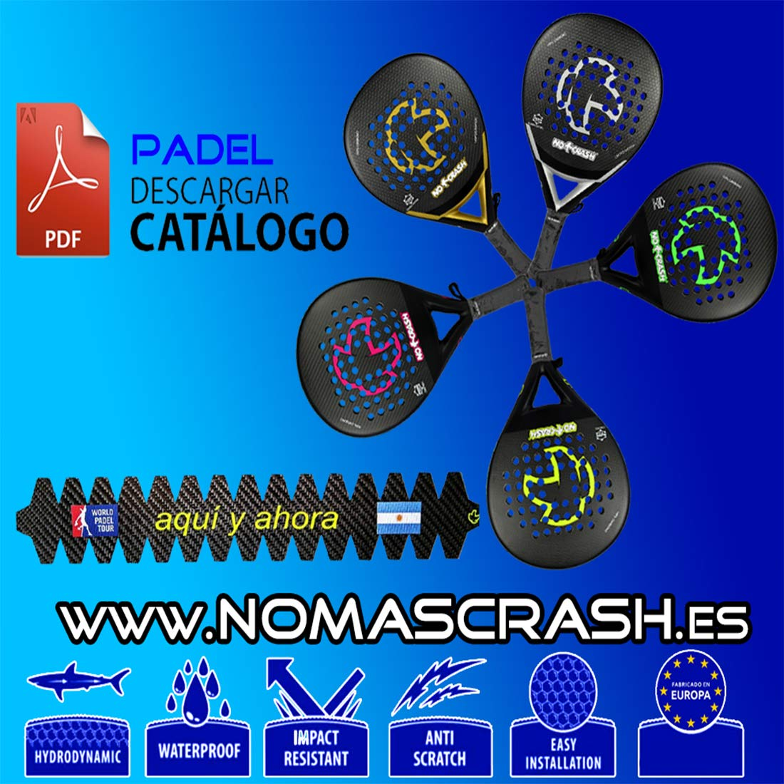 No+Crash Pack 3Ud Protector Pala 100% Carbono L nomascrash: Amazon ...