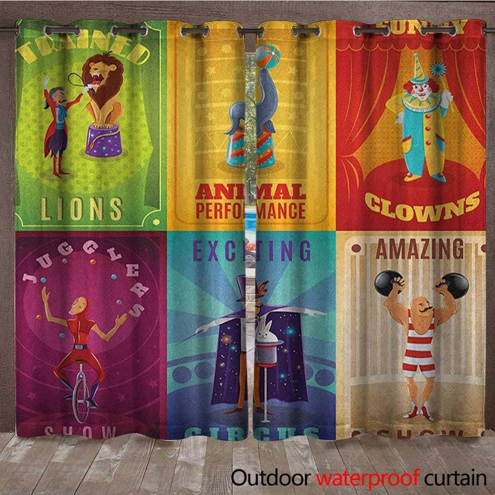 Cortina de Lona para Ventana de Circo, diseño de Payaso con Texto ...