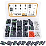 301Pcs 20 Kits Waterproof Car Electrical Wire Connector Terminals Plug Kit 1/2/3/4/6/Male&Female Pin Small Plug 18-14AWG Wate
